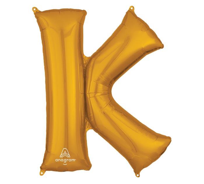 "33""PKG SHA LETTER K GOLD"