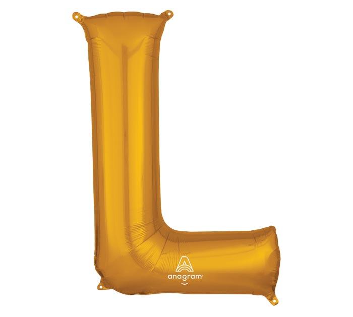 """32""""PKG SHA LETTER L GOLD"""
