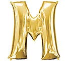 "33""PKG SHA LETTER M GOLD"