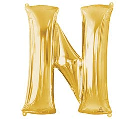 """32""""PKG SHA LETTER N GOLD"""
