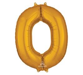 """33""""PKG SHA LETTER O GOLD"""