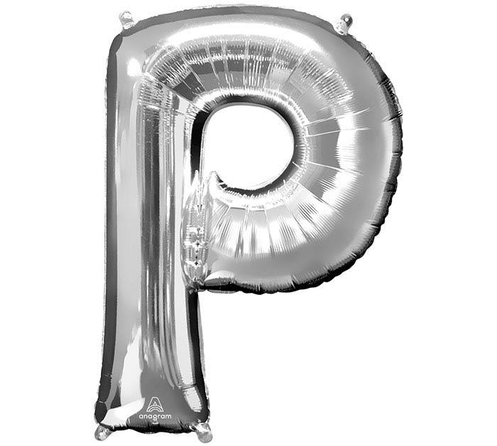 """32""""PKG SHA LETTER P SILVER"""