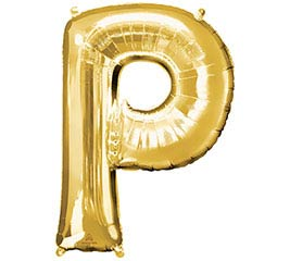 "32""PKG SHA LETTER P GOLD"