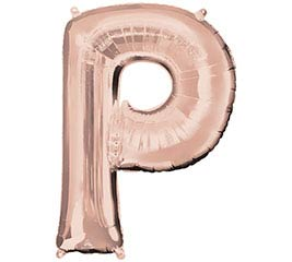 """32""""PKG SHA LETTER P ROSE GOLD"""