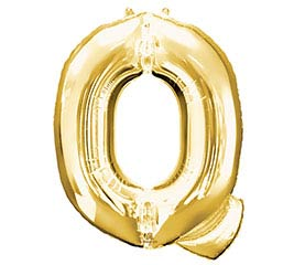 "32""PKG SHA LETTER Q GOLD"