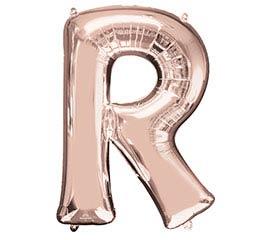 """32""""PKG SHA LETTER R ROSE GOLD"""