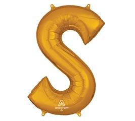 """35""""PKG SHA LETTER S GOLD"""