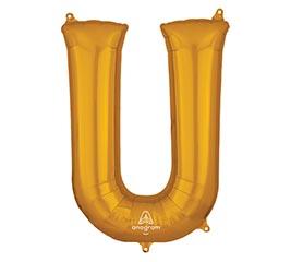 """33""""PKG SHA LETTER U GOLD"""
