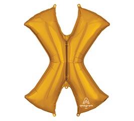 "35""PKG SHA LETTER X GOLD"