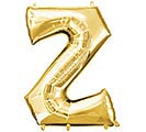 "33""PKG SHA LETTER Z GOLD"