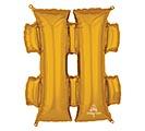 """33""""PKG SHA SYMBOL # GOLD"""