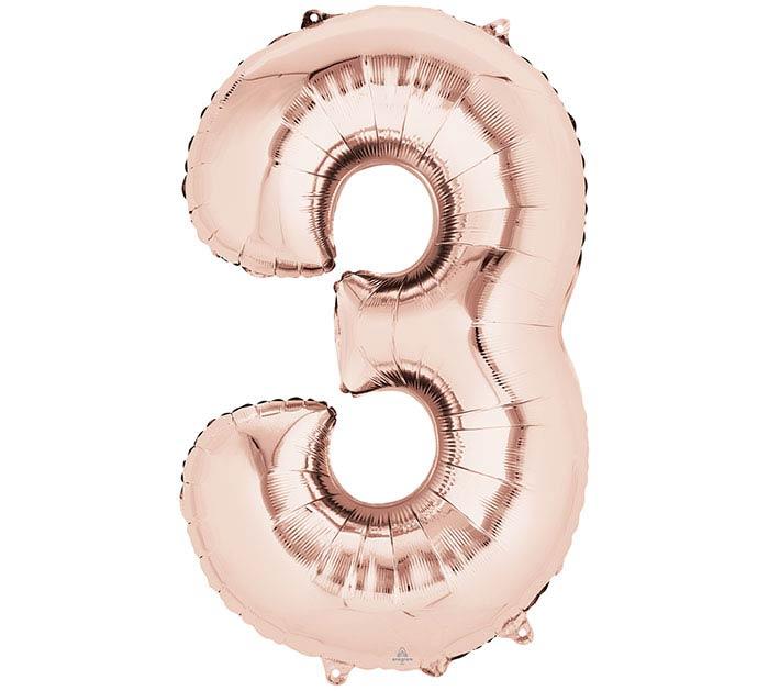 """34""""PKG SHA NUMBER 3 ROSE GOLD"""