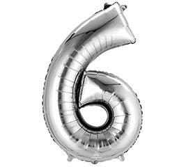 """34""""PKG SHA NUMBER 6 SILVER"""