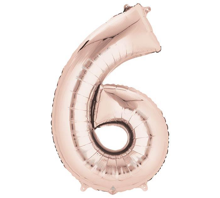 """34""""PKG SHA NUMBER 6 ROSE GOLD"""