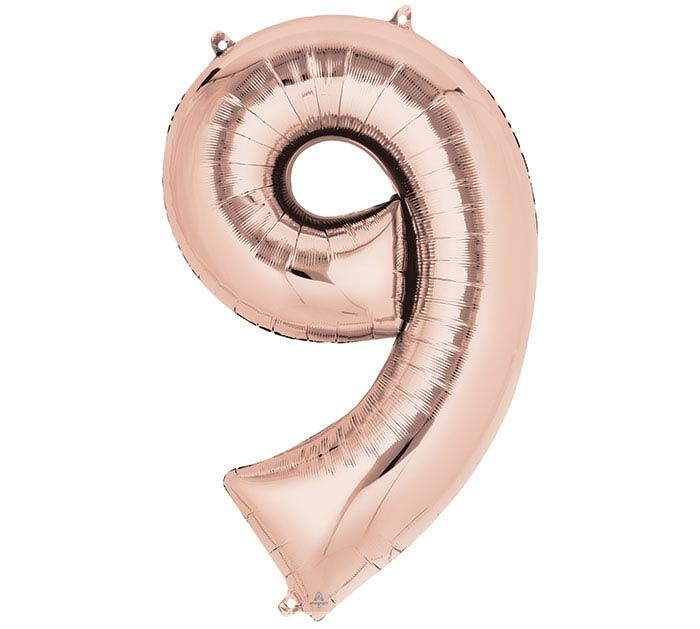 """34""""PKG SHA NUMBER 9 ROSE GOLD"""