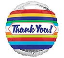 "4""INFLATED THANK YOU STRIPES"