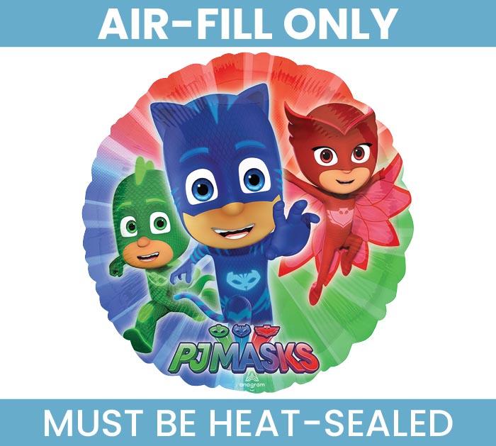 """9""""FLAT PJ MASKS AIR FILL ONLY BALLOON"""