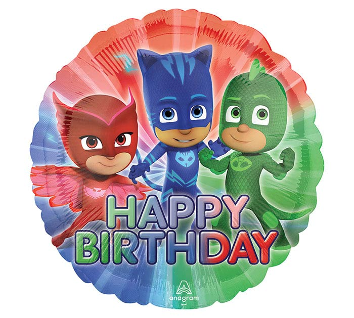 "17""PKG HBD PJ MASKS BIRTHDAY"