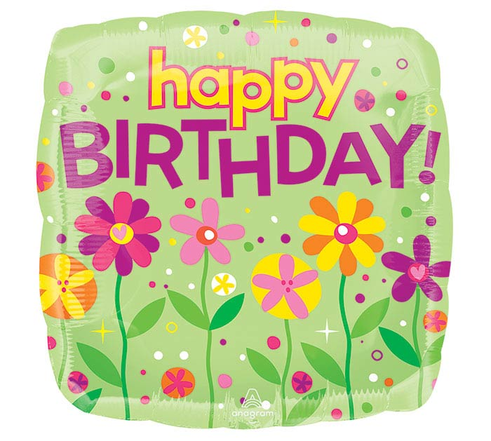 "17""PKG HBD GARDEN PATCH BIRTHDAY"