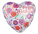 "17""PKG HBD BIRTHDAY FLORAL PRINT"