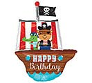 "34""PKG HBD PIRATE SHIP"