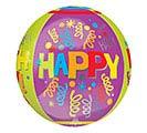 """16""""PKG HBD HAPPY HAPPY BIRTHDAY ORBZ 1st Alternate Image"""