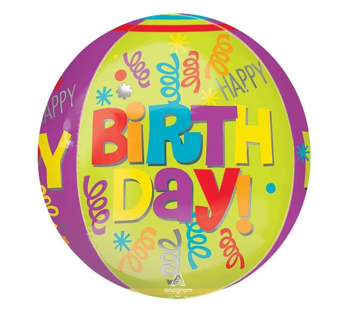 """16""""PKG HBD HAPPY HAPPY BIRTHDAY ORBZ"""