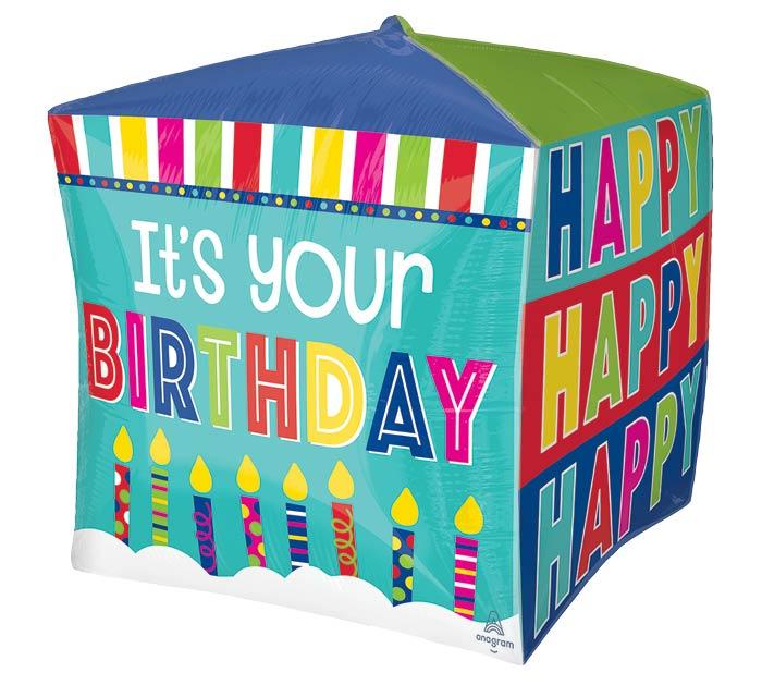 "15""PKG HBD IT'S YOUR BIRTHDAY CUBEZ"