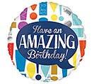 """17""""PKG HBD AMAZING BIRTHDAY"""