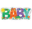 "33""PKG BABY BANNER CUTE ICONS"
