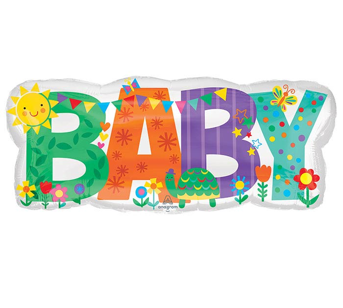 """33""""PKG BABY BANNER CUTE ICONS"""