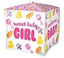 """15""""PKG BABY GIRL CHEVRON  ICONS CUBEZ 1st Alternate Image"""