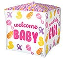 "15""PKG BABY GIRL CHEVRON  ICONS CUBEZ"