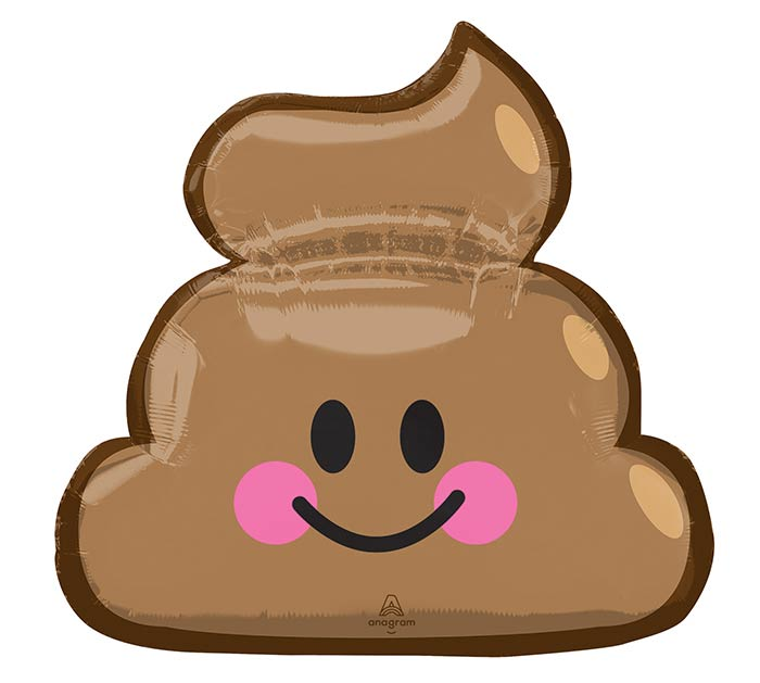 "25""PKG EMOTICON POOP"