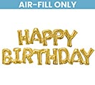 "74""PKG HAPPY BIRTHDAY GOLD PHRASE"