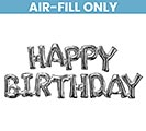 "74""PKG HAPPY BIRTHDAY SILVER PHRASE"