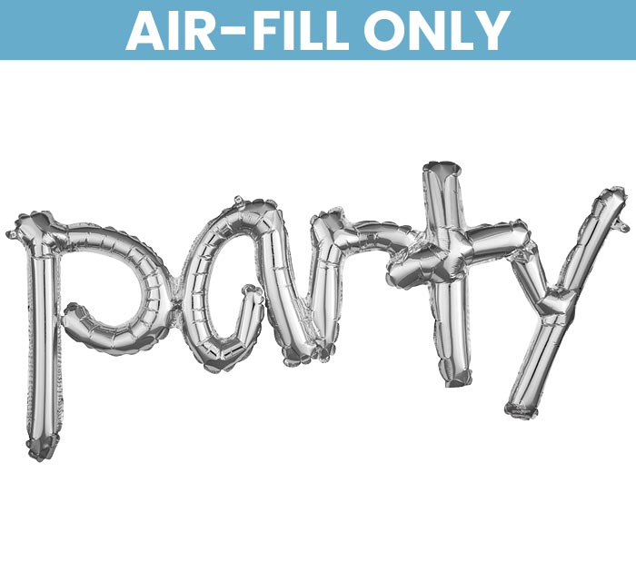 "37""PKG PARTY SILVER FREESTYLE PHRASE"