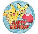 """17""""PKG HBD POKEMON BIRTHDAY"""