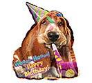 """25""""PKG HBD AVANTI BASSET HOUND BIRTHDAY"""