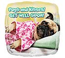 "17""PKG GWS AVANTI PUGS  KISSES GET WELL"