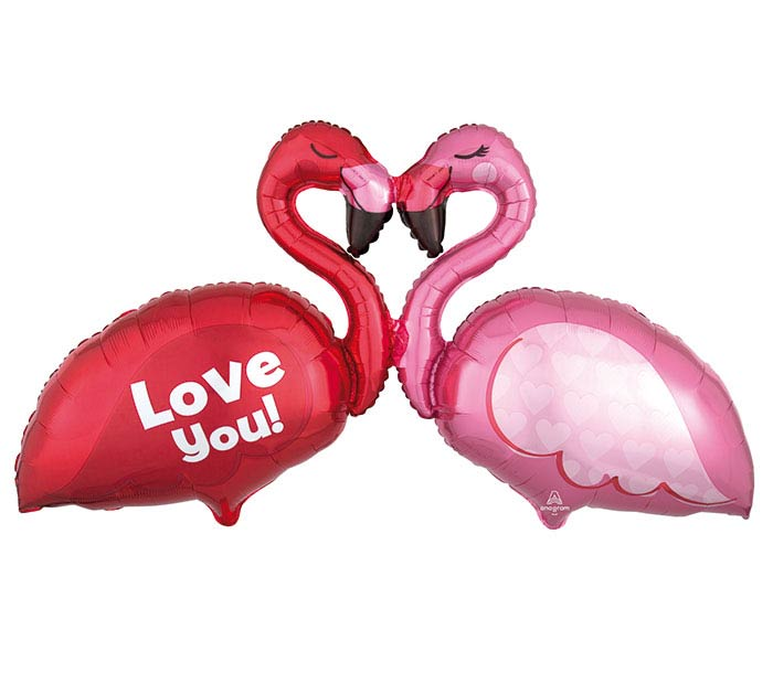 "46""PKG LUV LOVE FLAMINGOS MULTI-BALLOON"