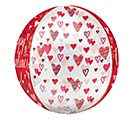 "16""PKG HVD ORBZ PLAYFUL VALENTINE HEARTS 1st Alternate Image"