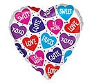 """21""""VAL CANDY HEARTS  DOTS COLORBLAST"""