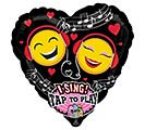 "29""PKG LUV EMOTICON LOVE SING A TUNE"