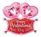 "14""INFLATED HVD DOUBLE HEART MARQUEE"