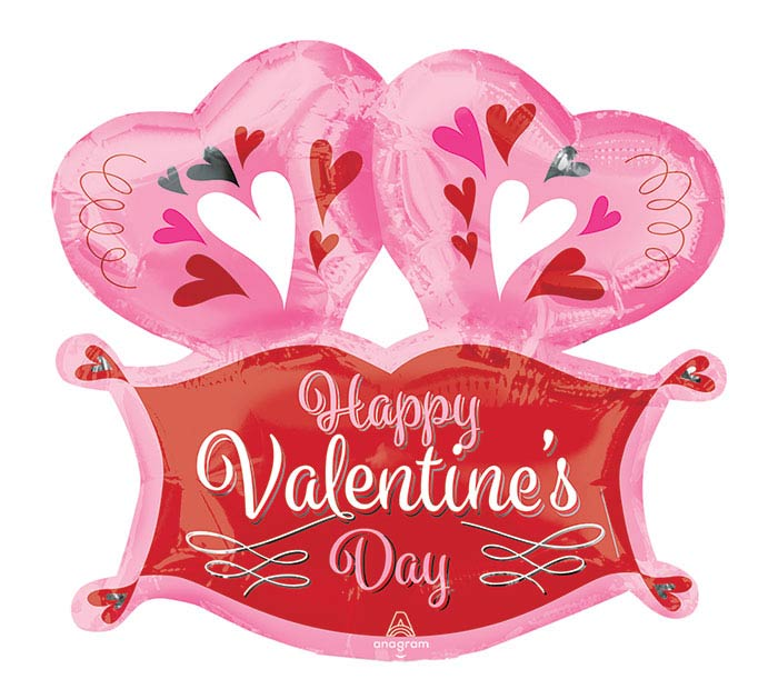 """14""""INFLATED HVD DOUBLE HEART MARQUEE"""