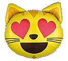 "22""PKG LUV EMOTICON CAT LOVE"