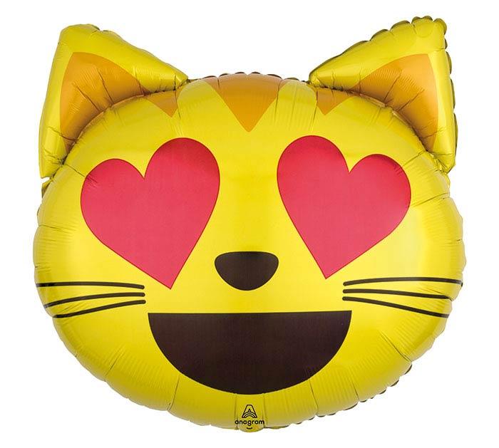 "22""PKG LUV EMOTICON CAT LOVE"