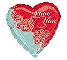 "17""LUV PAISLEY LOVE HEART"
