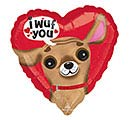 "17""LUV I WUF YOU HEART"